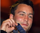 Jimmy Bartel with his Brownlow