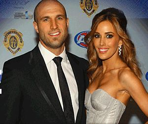 Chris Judd & Rebecca Twigley at the 2010 Brownlow