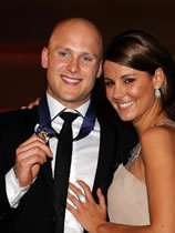 Gary Ablett and Lauren Phillips Brownlow