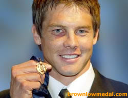 Ben Cousins with his Brownlow medal